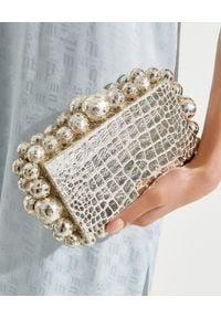 CULT GAIA - Metaliczna torebka Eos. Kolor: srebrny. Styl: wizytowy. Rodzaj torebki: na ramię