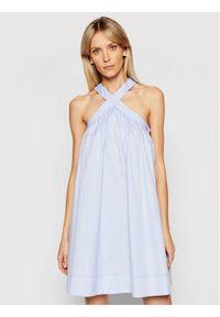 Niebieska sukienka letnia Victoria Victoria Beckham