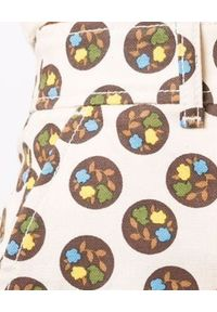 Tory Burch - TORY BURCH - Bawełniane spodenki w kropki. Stan: podwyższony. Kolor: biały. Materiał: bawełna. Wzór: kropki
