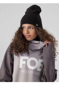 4f - Długa bluza snowboardowa z softshellu membrana 5 000 damska. Typ kołnierza: kaptur. Kolor: szary. Materiał: softshell, materiał. Długość: długie. Sezon: zima. Sport: snowboard