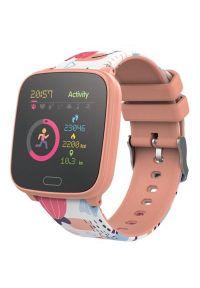 Pomarańczowy zegarek FOREVER smartwatch, młodzieżowy