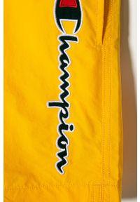 Żółte spodenki Champion casualowe, z nadrukiem, na co dzień