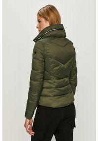 Zielona kurtka Cross Jeans na co dzień, casualowa, bez kaptura
