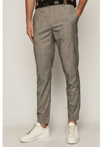medicine - Medicine - Spodnie Casual Elegance. Okazja: na co dzień. Kolor: szary. Materiał: tkanina. Styl: casual