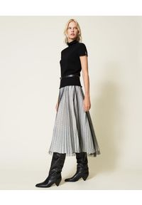 TwinSet - Czarna tiulowa długa spódnica Twinset. Kolor: czarny. Materiał: tiul. Długość: długie