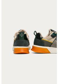 Oliwkowe sneakersy GANT na sznurówki, z cholewką