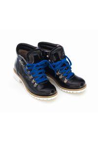 Niebieskie botki Zapato z cholewką za kostkę, na co dzień