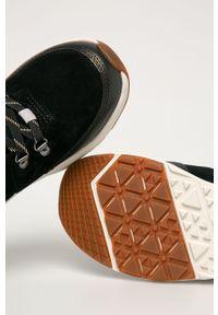 Czarne buty trekkingowe The North Face na sznurówki, z cholewką