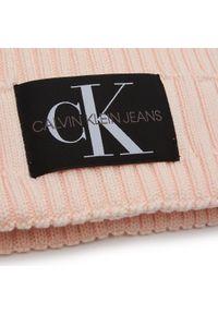 Różowa czapka zimowa Calvin Klein Jeans