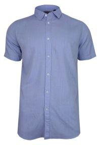 Niebieska koszula casual Brave Soul na co dzień, z krótkim rękawem