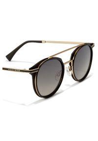 Hawkers - Okulary przeciwsłoneczne CITYLIFE - BLACK. Kształt: okrągłe. Kolor: czarny