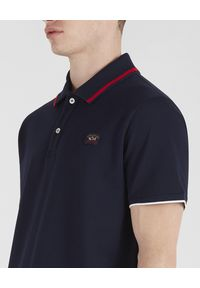 PAUL & SHARK - Koszulka polo z organicznej bawełny. Typ kołnierza: polo. Kolor: niebieski. Materiał: bawełna. Wzór: aplikacja. Sezon: lato, wiosna