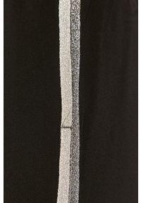 Czarne spodnie materiałowe Liu Jo z aplikacjami, na co dzień, casualowe