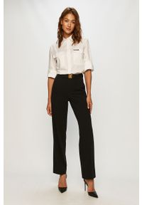 Czarne spodnie materiałowe Miss Sixty z podwyższonym stanem