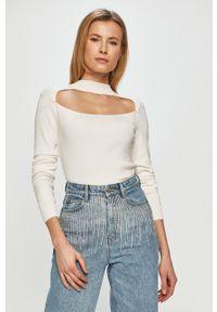 Biały sweter Miss Sixty na co dzień, gładki, z długim rękawem, długi