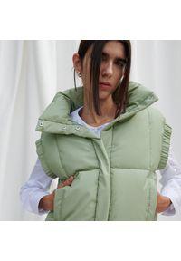 Reserved - Pikowana kamizelka - Zielony. Kolor: zielony