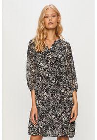 Haily's - Sukienka. Kolor: czarny. Materiał: tkanina. Typ sukienki: rozkloszowane