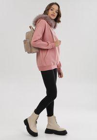 Born2be - Różowa Bluza Relphenee. Kolor: różowy