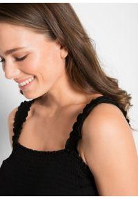 Top ciążowy bonprix czarny. Kolekcja: moda ciążowa. Kolor: czarny