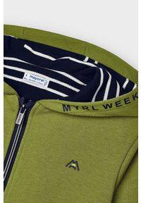 Brązowa bluza rozpinana Mayoral gładkie, z kapturem