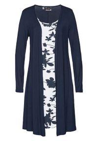 Niebieska sukienka bonprix w kwiaty