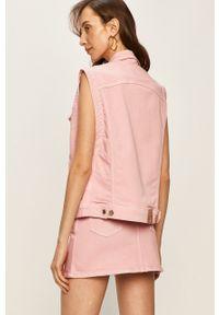 Różowa kamizelka Pepe Jeans bez kaptura, na co dzień, casualowa
