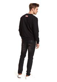 Czarna bluza TOP SECRET z motywem z bajki