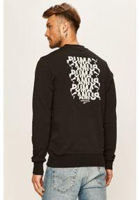 Czarna bluza nierozpinana Puma bez kaptura, casualowa