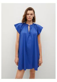 mango - Mango Sukienka letnia Deep 87047884 Niebieski Regular Fit. Kolor: niebieski. Sezon: lato