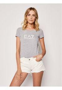 EA7 Emporio Armani T-Shirt 8NTT63 TJ12Z 3905 Szary Slim Fit. Kolor: szary