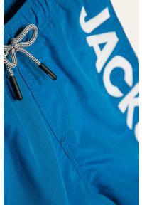 Niebieskie spodenki Jack & Jones z nadrukiem