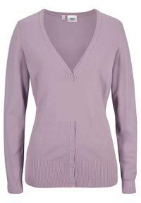 Fioletowy sweter bonprix na co dzień, casualowy, gładki