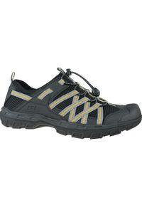 Czarne sandały sportowe skechers w kolorowe wzory