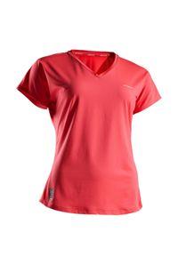ARTENGO - Koszulka tenisowa TS Soft 500 damska. Materiał: poliester, materiał, elastan. Długość: krótkie