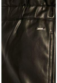 Czarne spodnie materiałowe Pepe Jeans na co dzień, z podwyższonym stanem, casualowe