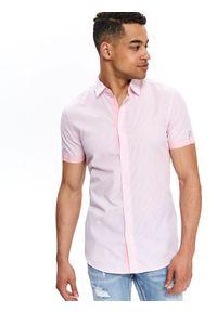 Różowa koszula TOP SECRET w prążki