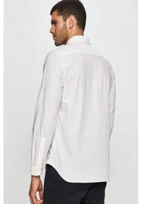 Biała koszula Lacoste z aplikacjami, na co dzień, długa, button down