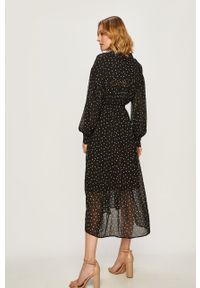 DKNY - Dkny - Sukienka. Kolor: czarny. Typ sukienki: rozkloszowane