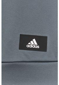 Adidas - adidas - Bluza. Okazja: na co dzień. Kolor: szary. Materiał: dzianina. Wzór: gładki. Styl: casual
