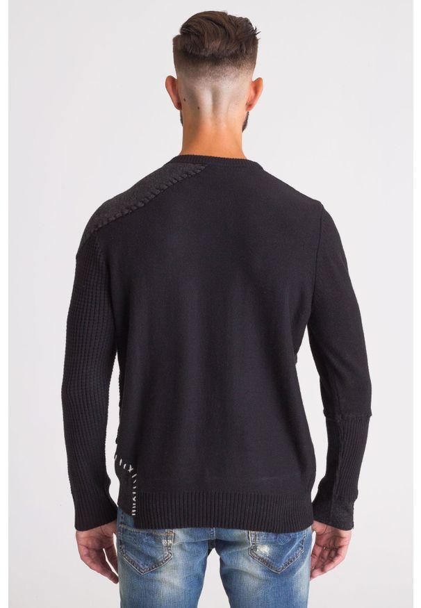 Sweter Diesel z klasycznym kołnierzykiem, klasyczny