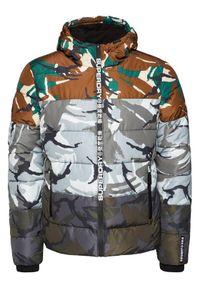 Superdry Kurtka puchowa Camo Mix Sports M5010396A Kolorowy Regular Fit. Materiał: puch. Wzór: kolorowy