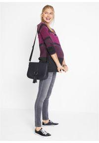 Szare jeansy bonprix moda ciążowa, na co dzień
