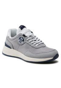North Sails - Sneakersy NORTH SAILS - RW/02 Essential -002 Gray. Okazja: na co dzień. Kolor: szary. Materiał: skóra, skóra ekologiczna, materiał. Szerokość cholewki: normalna. Styl: sportowy, casual