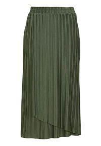 Soyaconcept Plisowana spódnica dżersejowa Kirit khaki female zielony L (42). Kolor: zielony. Materiał: jersey. Styl: klasyczny, elegancki