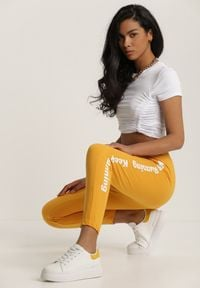 Renee - Żółte Spodnie Dresowe Alexyxio. Kolor: żółty. Materiał: dresówka