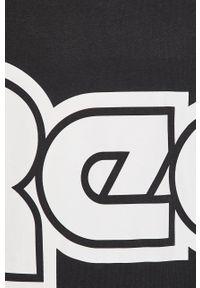 Czarna bluza nierozpinana Reebok Classic z nadrukiem, z okrągłym kołnierzem