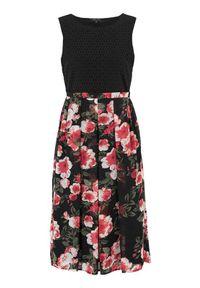 Czarna sukienka Happy Holly w kwiaty, elegancka