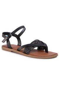 Czarne sandały Toms na co dzień, casualowe