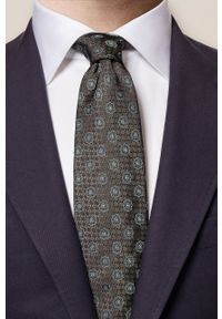 Eton - ETON - Krawat. Kolor: zielony