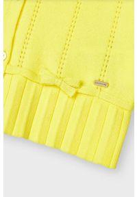 Żółty sweter Mayoral gładki, na co dzień